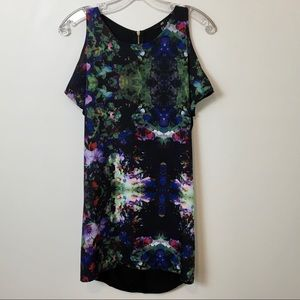 H & M Cold Shoulder Floral Dress XS